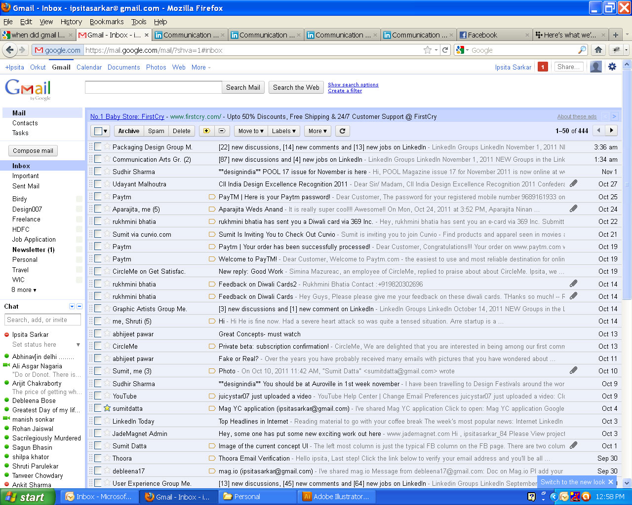 Gmail old theme - There